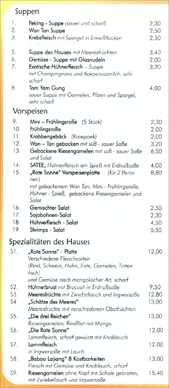 "China-Restaurant ""Rote Sonne"" in Göppingen"