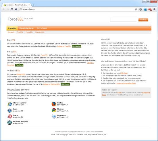 SSL-Zertifikat günstig – Magerquark.de