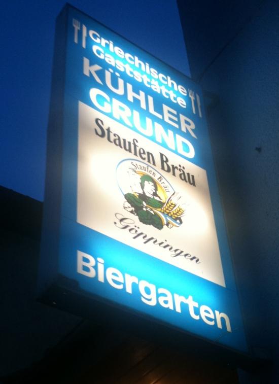 Griechisches Restaurant Kühler Grund in Göppingen