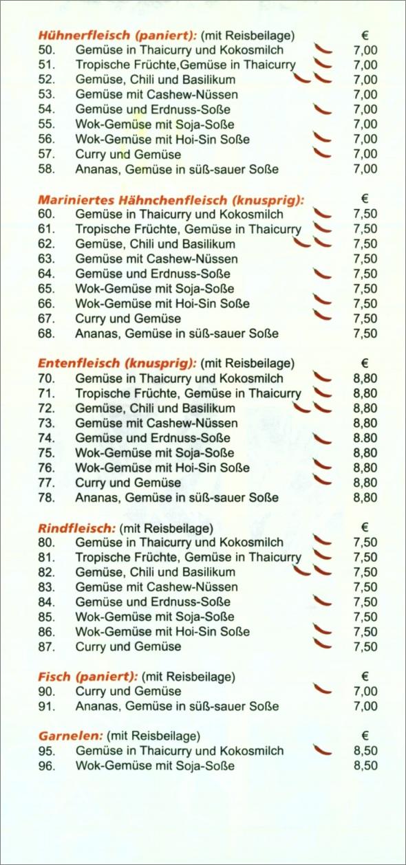 Speisekarte Le Bambou in Neuhausen auf den Fildern, Seite 3