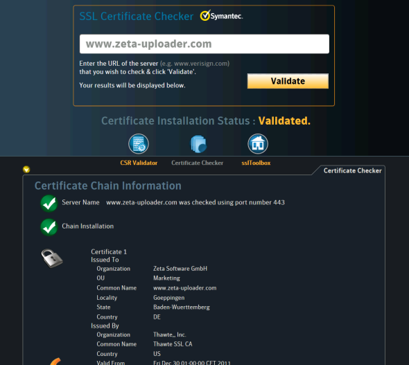 SSL-Zertifikate online prüfen – Magerquark.de