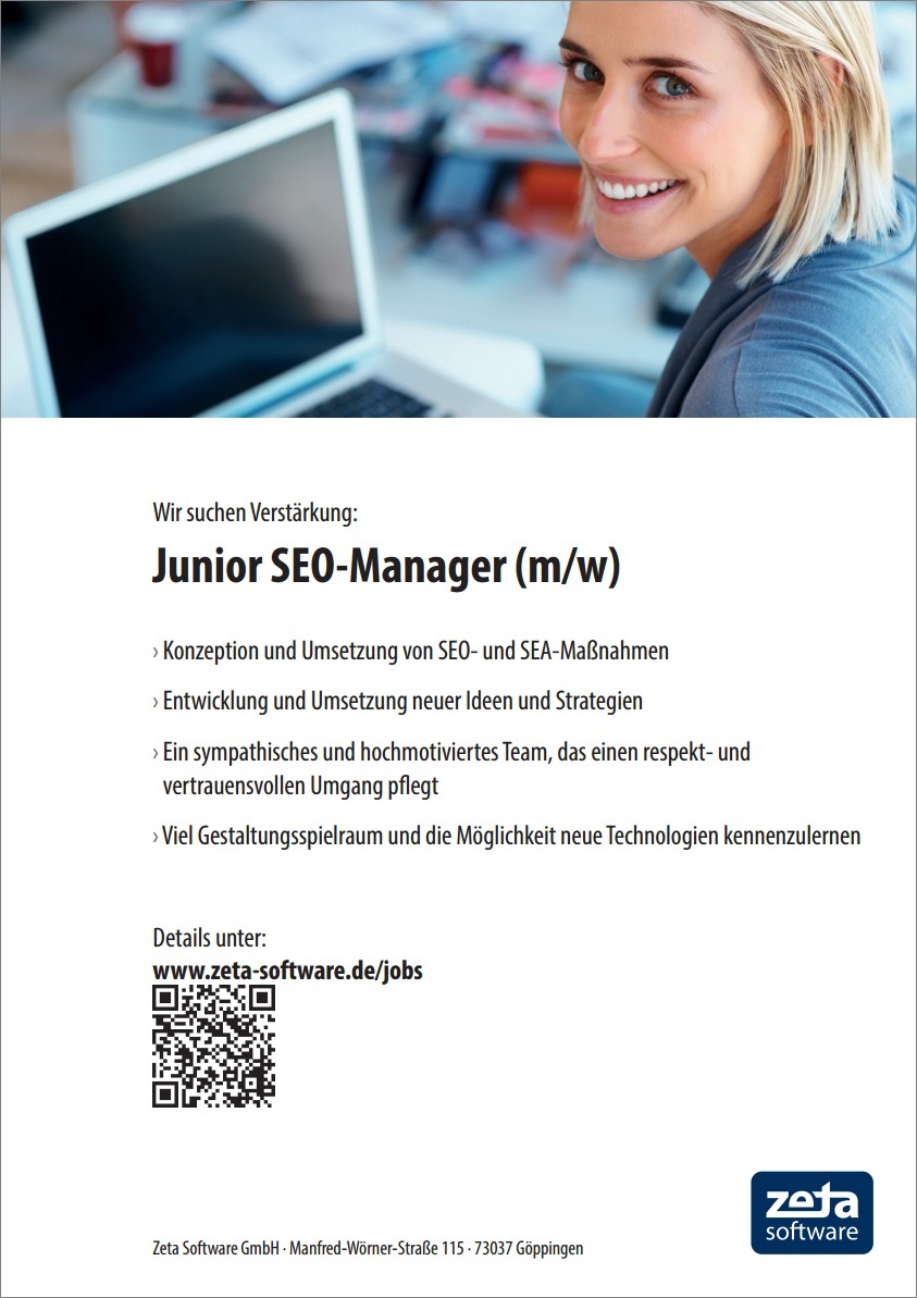 Stellenangebot in 73037 Göppingen - Junior-SEO-Manager