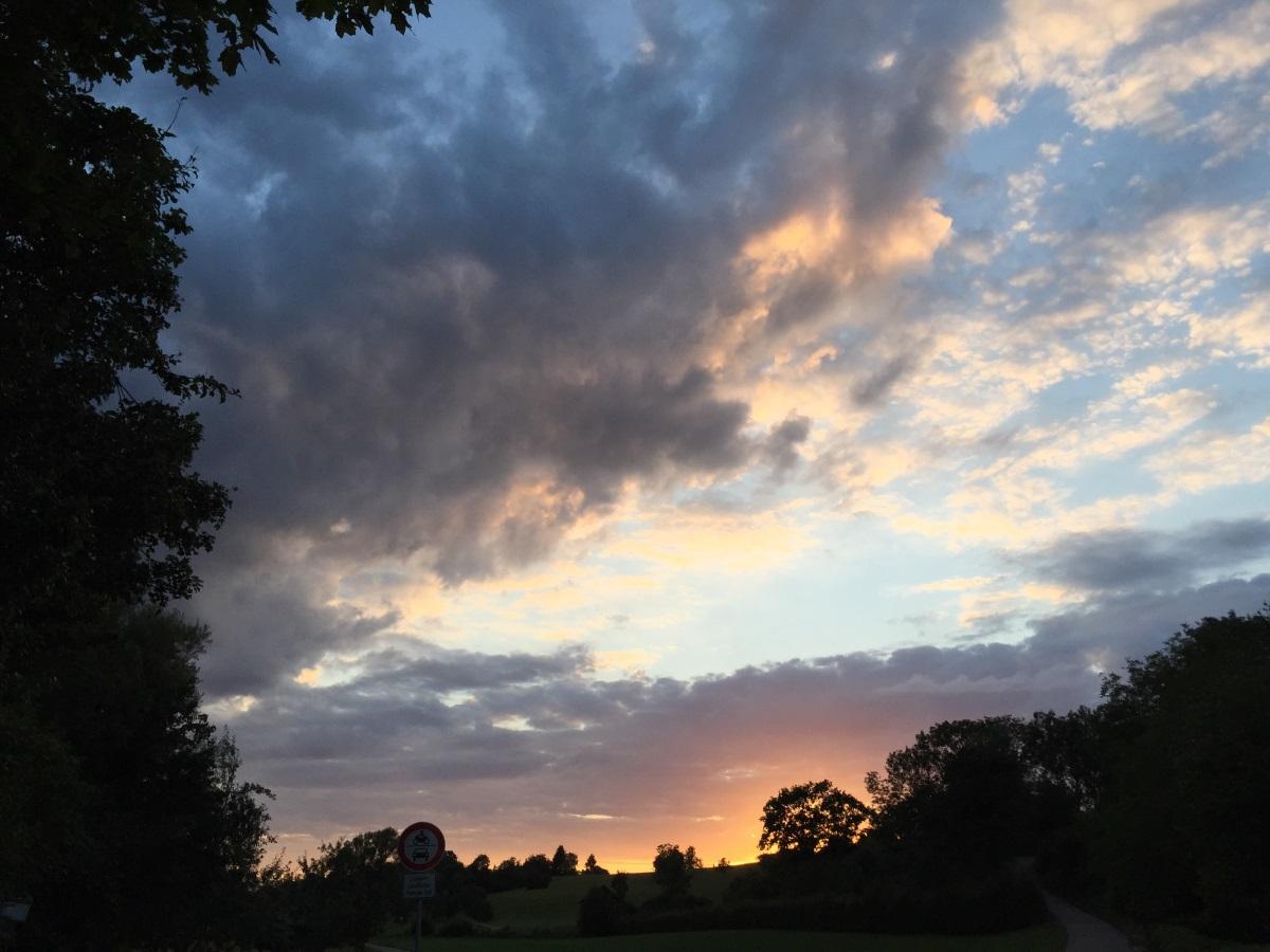 Abends im Stauferpark Göppingen