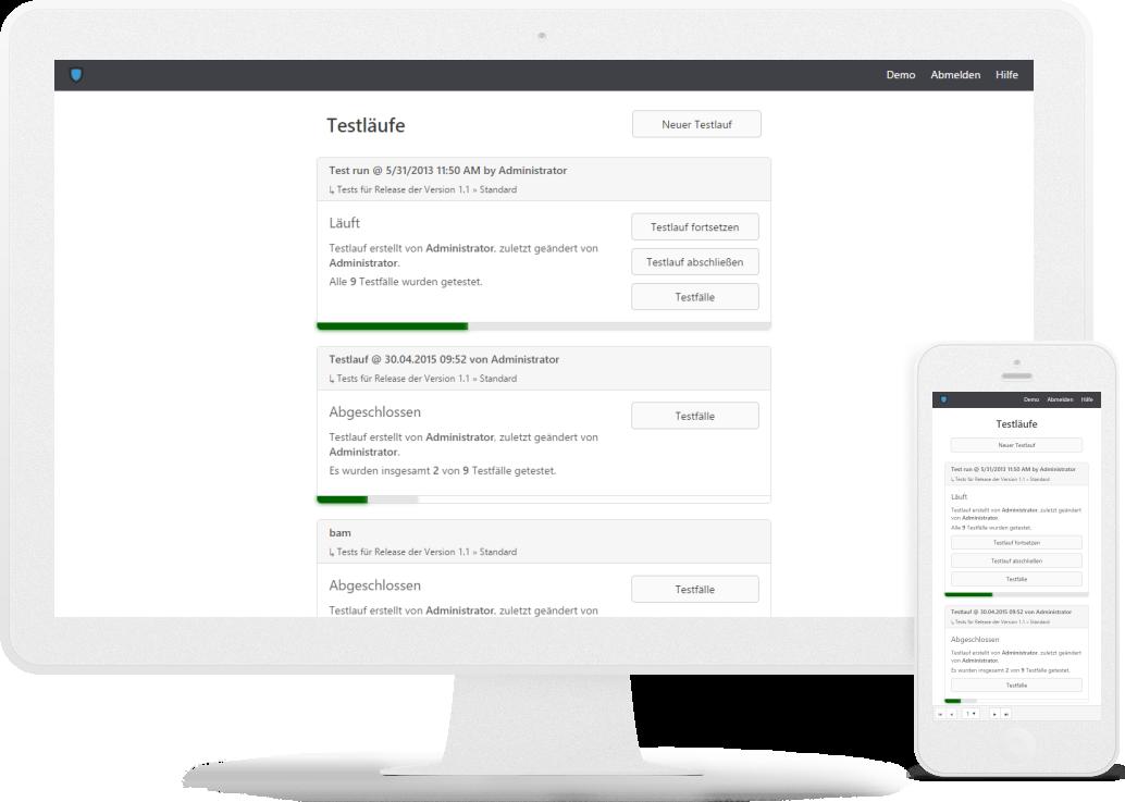 Test- und Anforderungs-Management für Web und Windows