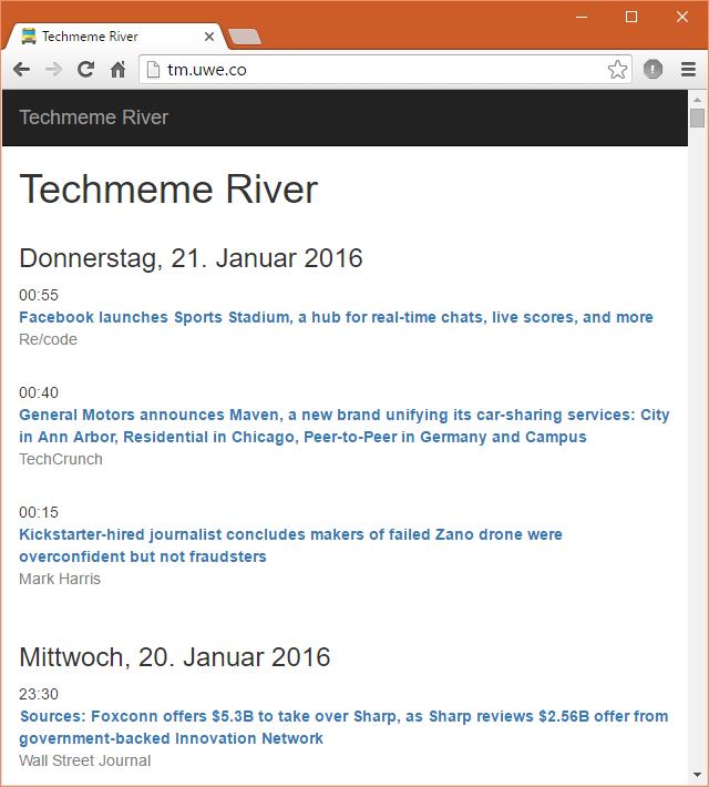 Techmeme River